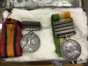 2 Boer War medals