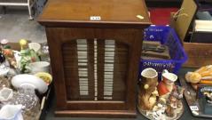 Mahogany glazed specimen cabinet