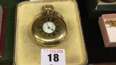 18ct gold pocketwatch