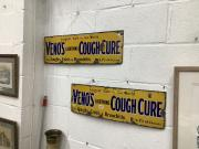 Pair of enamel signs
