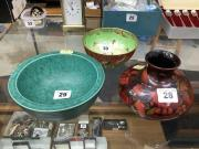Pottery x 3